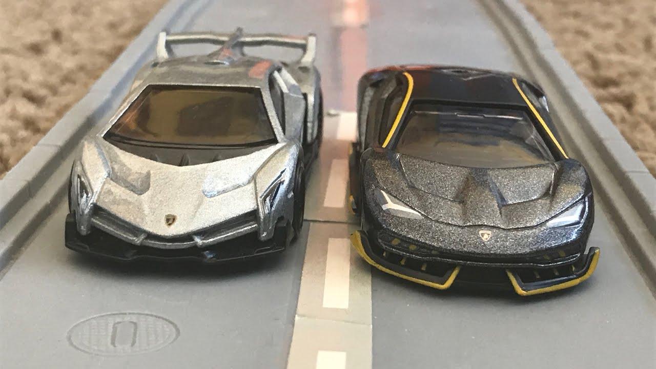 Hot Wheels Lamborghini Veneno Vs Lamborghini Centenario Street Race