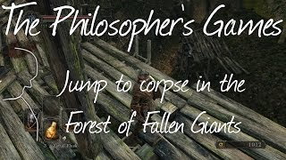 Forest of Fallen Giants - How to get to the corpse above the Firecave (Dark Souls 2)