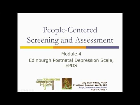 People-Centered Screening and Assessment: Module 4 - Edinburgh Postnatal Depression Scale