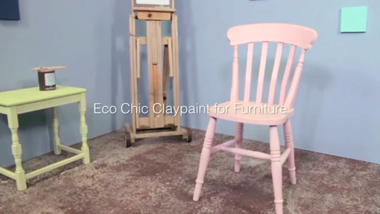 eco chic furniture reclaimed wood painting chair with earthborn eco chic claypaint for furniture youtube