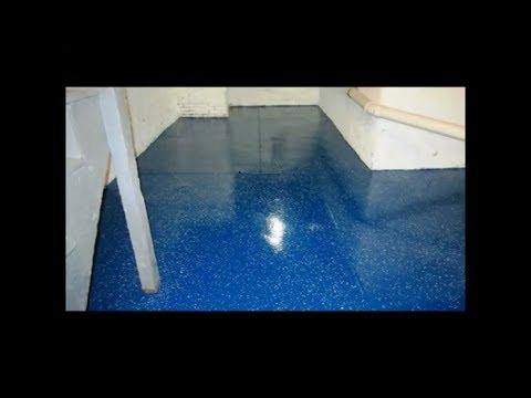 Garage  Epoxy floor Philadelphia, Acid Etched washed down.