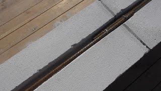 Армирование газоблока стальной арматурой(Армирование газоблока стальной арматурой. Приступаю к армирования подоконного ряда газоблока стальной..., 2015-09-11T21:52:12.000Z)