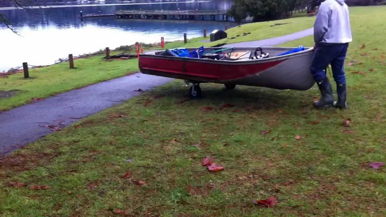 Jon Boat Launch Wheels : Boat wheels youtube