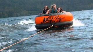 BOATING & WAVE JUMPING WITH TUBE