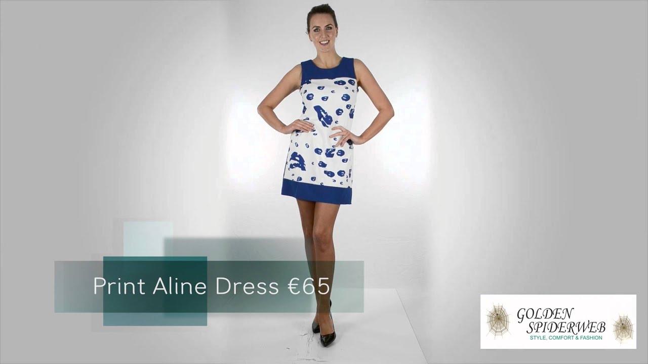 delicate colors order run shoes Print Aline Dress €65
