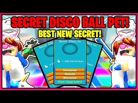 TAPPING SIMULATOR NEW DISCO WORLD! NEW SECRET DISCO PET! MORE FREE BOOSTS!!!! MUCH MORE! - ROBLOX