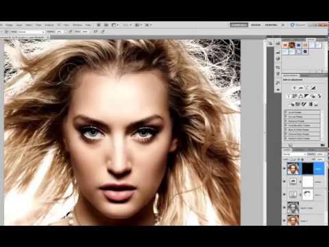 Урок Обработка фото для глянцевого журнала в Фотошоп - YouTube