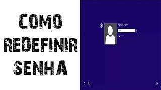 Como alterar/mudar senha no Windows 8.1, 10 - Disco de Redefinição de senha