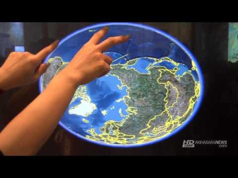 """37 and 46"""" Multitouch LCD at Display 2009 Tokyo Japan"""