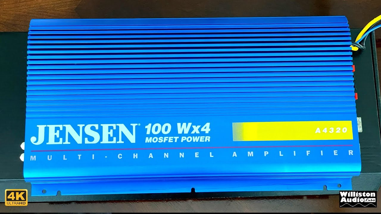 Feelin' Blue in 1992? Jensen A4320 Four Channel Budget Amp Dyno Test and Review