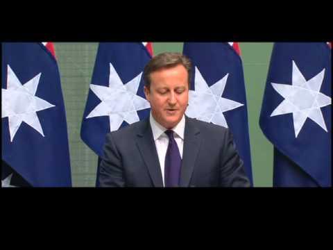 UK PM Mr Cameron - Australian Parliament - 14th November 2014