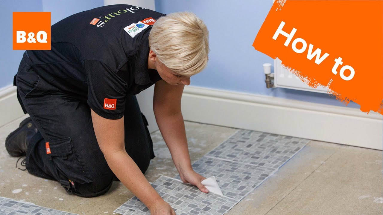 B&q Kitchen Design Jobs How To Lay Vinyl Tiles Carpet Tiles Part 2 Laying The Tiles Youtube