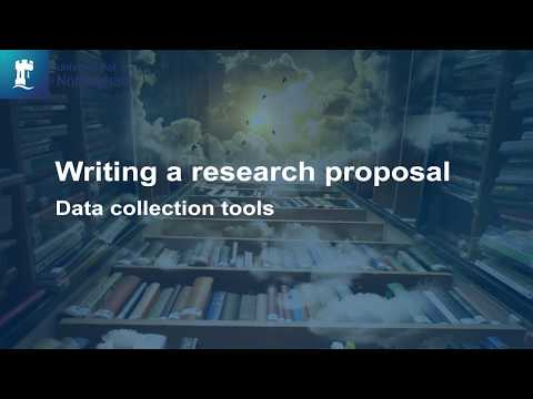 Writing A Research Proposal  - Data Collection