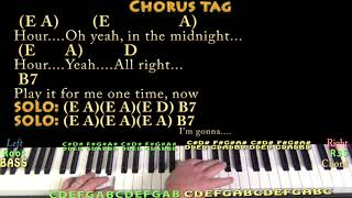 In the Midnight Hour (Wilson Pickett) Piano Cover Lesson with Chords/Lyrics