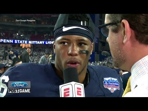 Penn State's Saquon Barkley addresses NFL question after huge Fiesta Bowl | ESPN