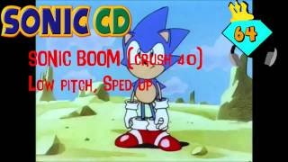 Sonic Boom (Crush 40) | Low Pitch, Sped Up | Ultra
