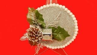 ADDOBBI NATALIZI FAI DA TE: Palline di Polistirolo Decorate con Gomma Crepla Glitterata