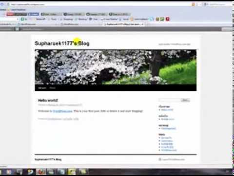 วิธีการสมัคร Blog Wordpress ฟรี