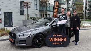 Winner! Week 1 2018 - Thomas Gunning - Jaguar XE S plus £20,000 cash!