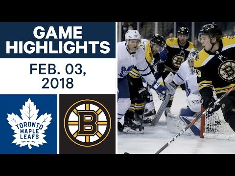 NHL Game Highlights | Maple Leafs  vs. Bruins - Feb. 03, 2018