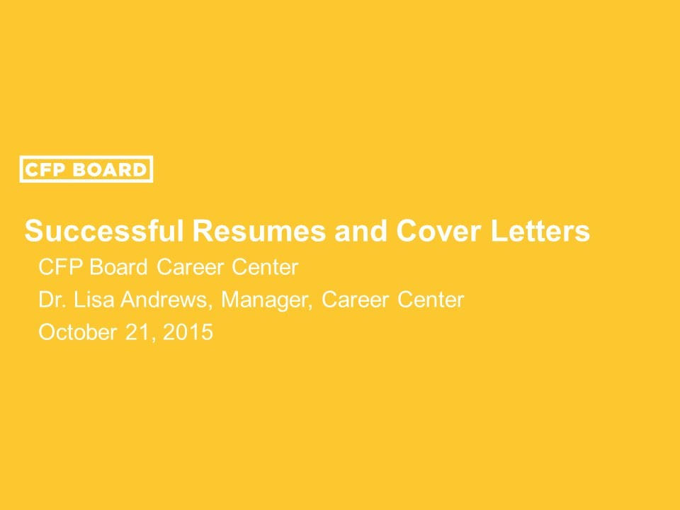 how to write successful résumés and cover letters youtube