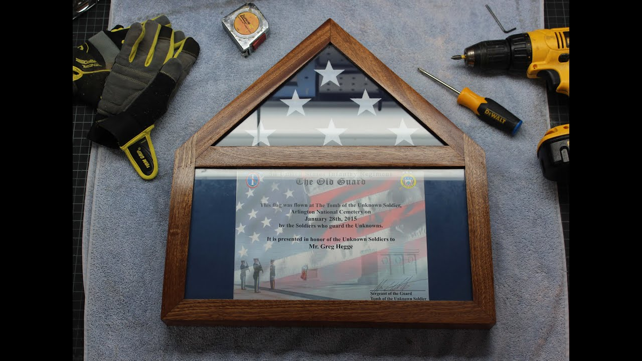 Build Your Own Flag Display Case With Certificate Ensign Shadowbox