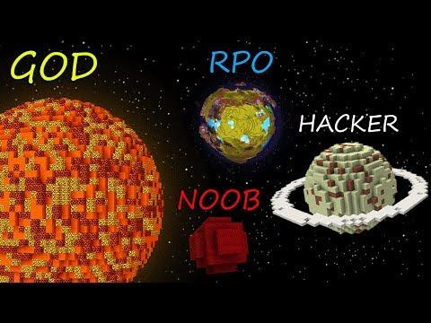 Minecraft Battle: NOOB vs PRO vs HACKER vs GOD: THE SOLAR SYSTEM OF THE PLANETS in Minecraft!