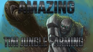 Dota 2 - Amazing Tiny Jungle Farming Trick