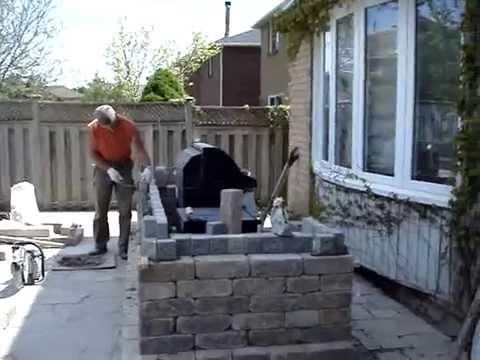 Constructing Bbq Enclosure From Unilock Blocks Youtube