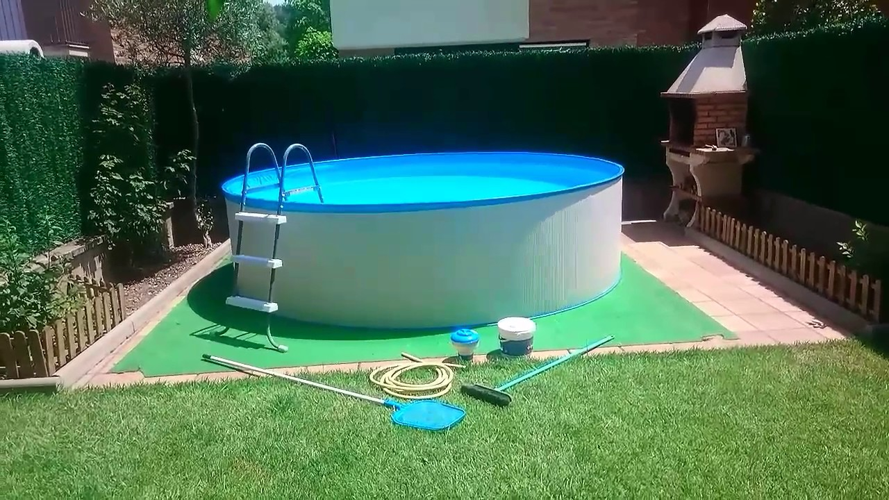 Mantenimiento de la piscina de forma manual sin for Piscinas rectangulares desmontables con depuradora