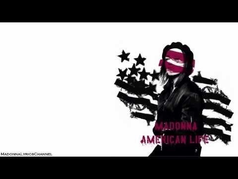 Madonna - American Life (Lyrics On Screen)