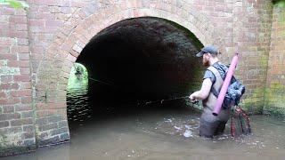 Rod Bent Double in This Tiny Creek / Stream!