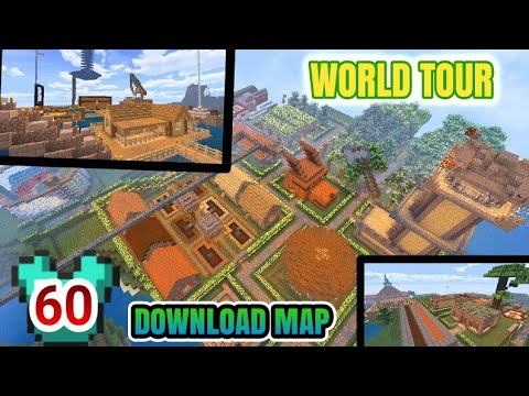 BAGI-BAGI MAP SURVIVAL WORLD TOUR + DOWNLOAD MAP -MCPE-MINECRAFT SURVIVAL#60