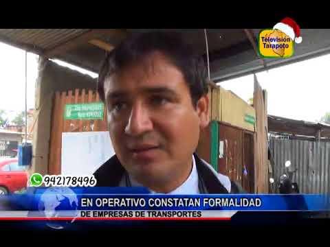 TARAPOTO NOTICIAS: EN OPERATIVO CONSTATAN FORMALIDAD DE EMPRESAS DE TRANSPORTES.