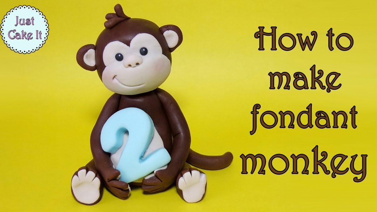 How To Make A Monkey Cake Topper Jak Zrobi Mapk Z Masy Cukrowej