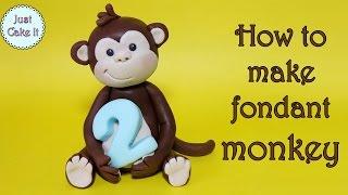 How to make a monkey cake topper / Jak zrobić małpkę z masy cukrowej