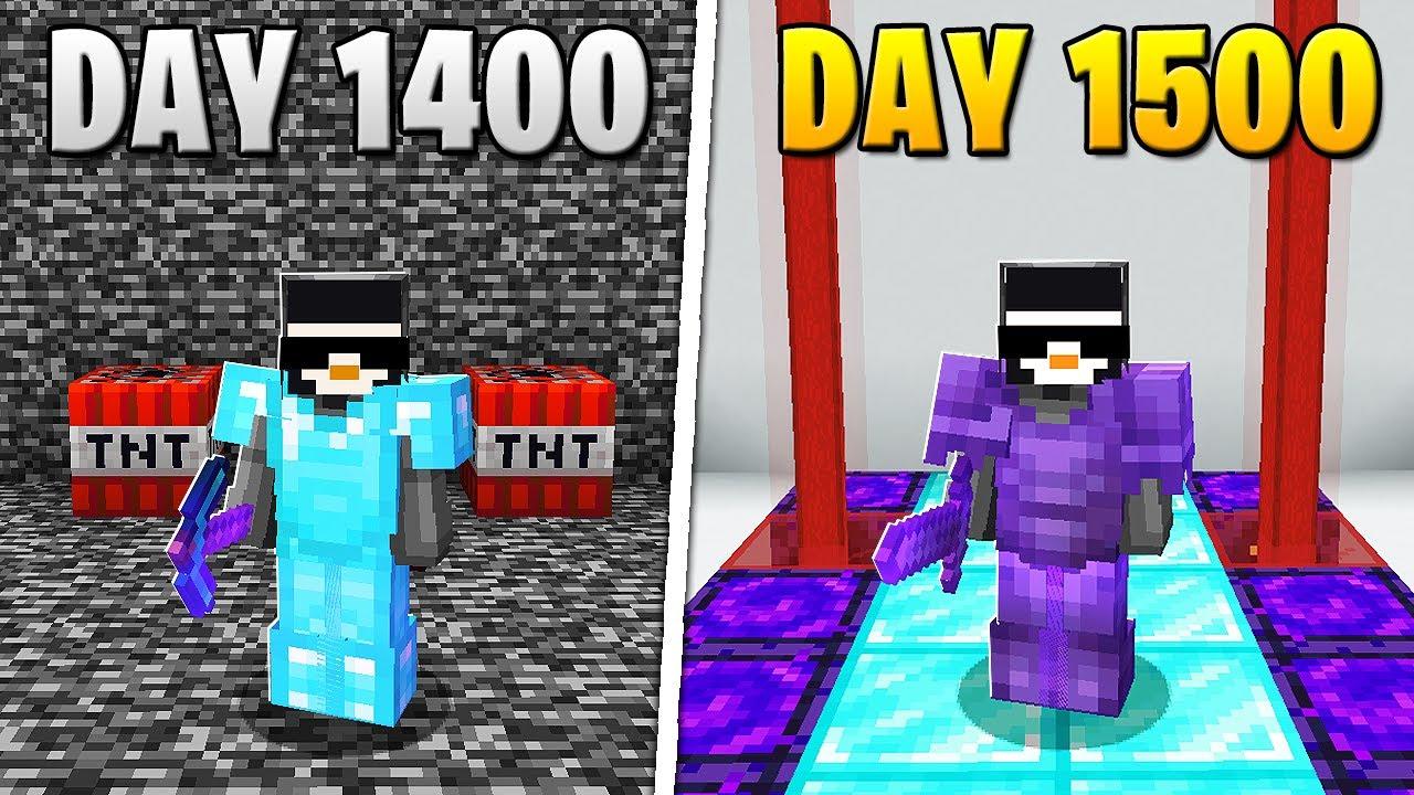 I Survived 1,500 Days in HARDCORE Minecraft...