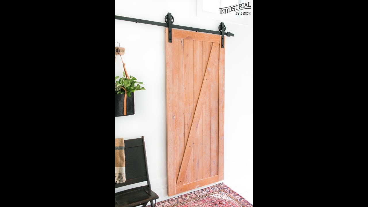 Step by step barn door assembly industrial by design