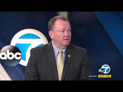 Los Angeles County Sheriff Jim McDonnell speaks with ABC7