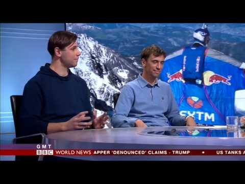 BBC Interview World Record BASE Jumper Valery Rozov & his Son, Andrey Rozov | London 12/01/17