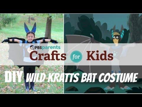 No-Sew Wild Kratts Bat Costume   Crafts for Kids   PBS Parents