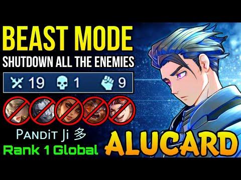BEAST MODE Alucard Insane 19 Kills!! - Top 1 Global Alucard By Pᴀɴᴅiᴛ Ji 多 - MLBB