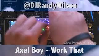 DJ Randy Wilson mixing on the Monster GO-DJ!
