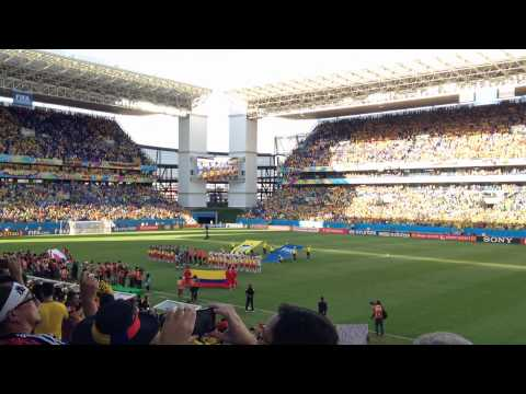 2014 FIFA World Cup Japan vs Colombia National Anthem