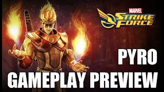 Pyro Gameplay Preview - Marvel Strike Force