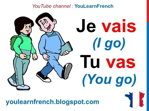 French Lesson 22 - ALLER (TO GO) Verb Conjugation Present tense - Conjugaison Indicatif présent