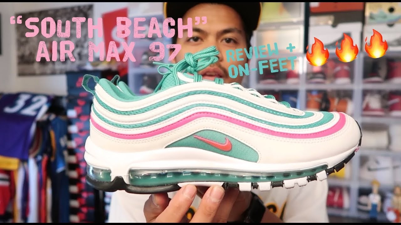 south beach nike air max 97 miami vice review + on-feet - YouTube 19efaf7dd
