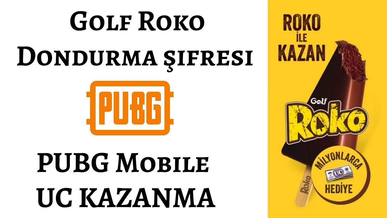 Golf Roko dondurma çubuğu şifresi ile Pubg Mobile UC kodu alma,  Roko dondurma kodu ne işe yarar?