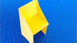 DIY. Как сделать мебель для кукол своими руками♡  Стул из бумаги.