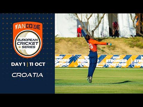 🔴 FanCode European Cricket Series Croatia, Day 1 | T10 Live Cricket